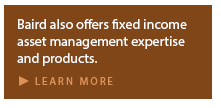 Baird offers fixed income asset management expertise.