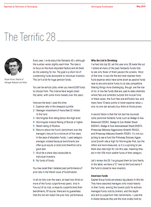 Morningstar's Terrific 28