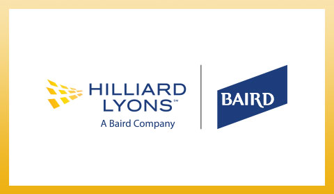 Hilliard Lyons and Baird logos