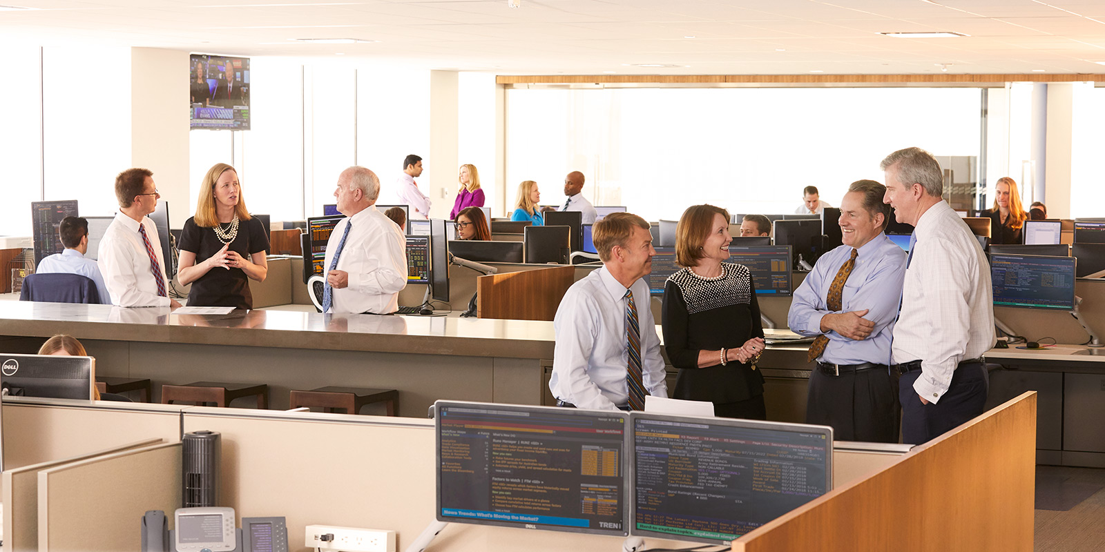 Photo of Baird Asset Management trading floor