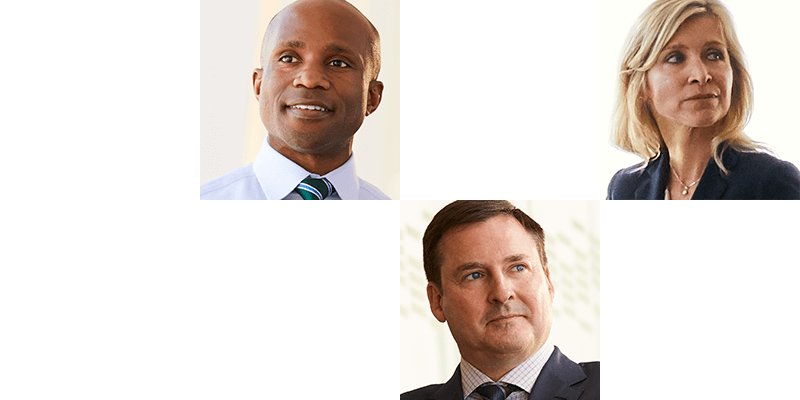 Three portraits of individual associates