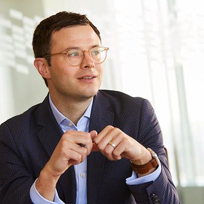 Photo of Baird Capital Associate talking