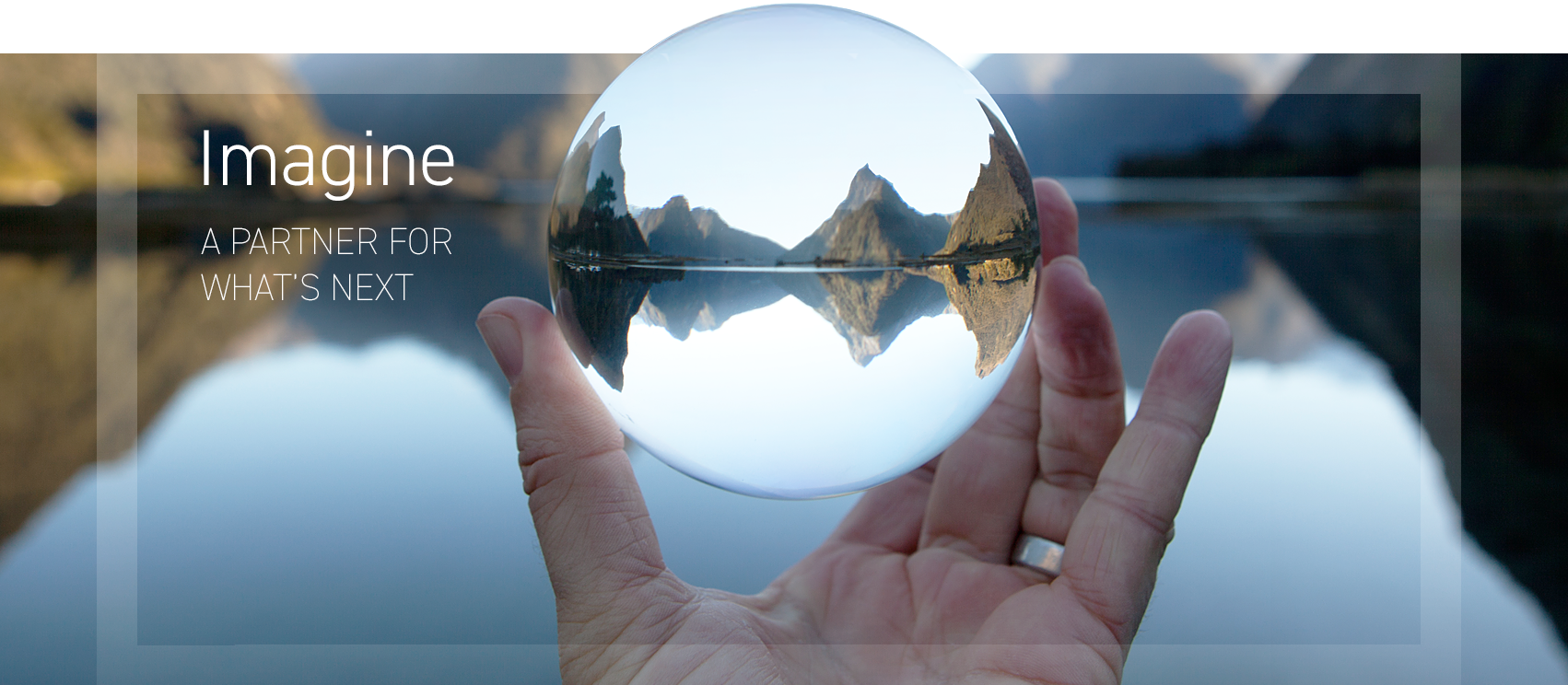 2017 Annual Report Cover-photo of mountains reflecting in sphere