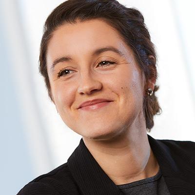 Close up photo of female FICM Associate