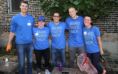 Baird associates volunteering during Baird Gives Back Week 2021