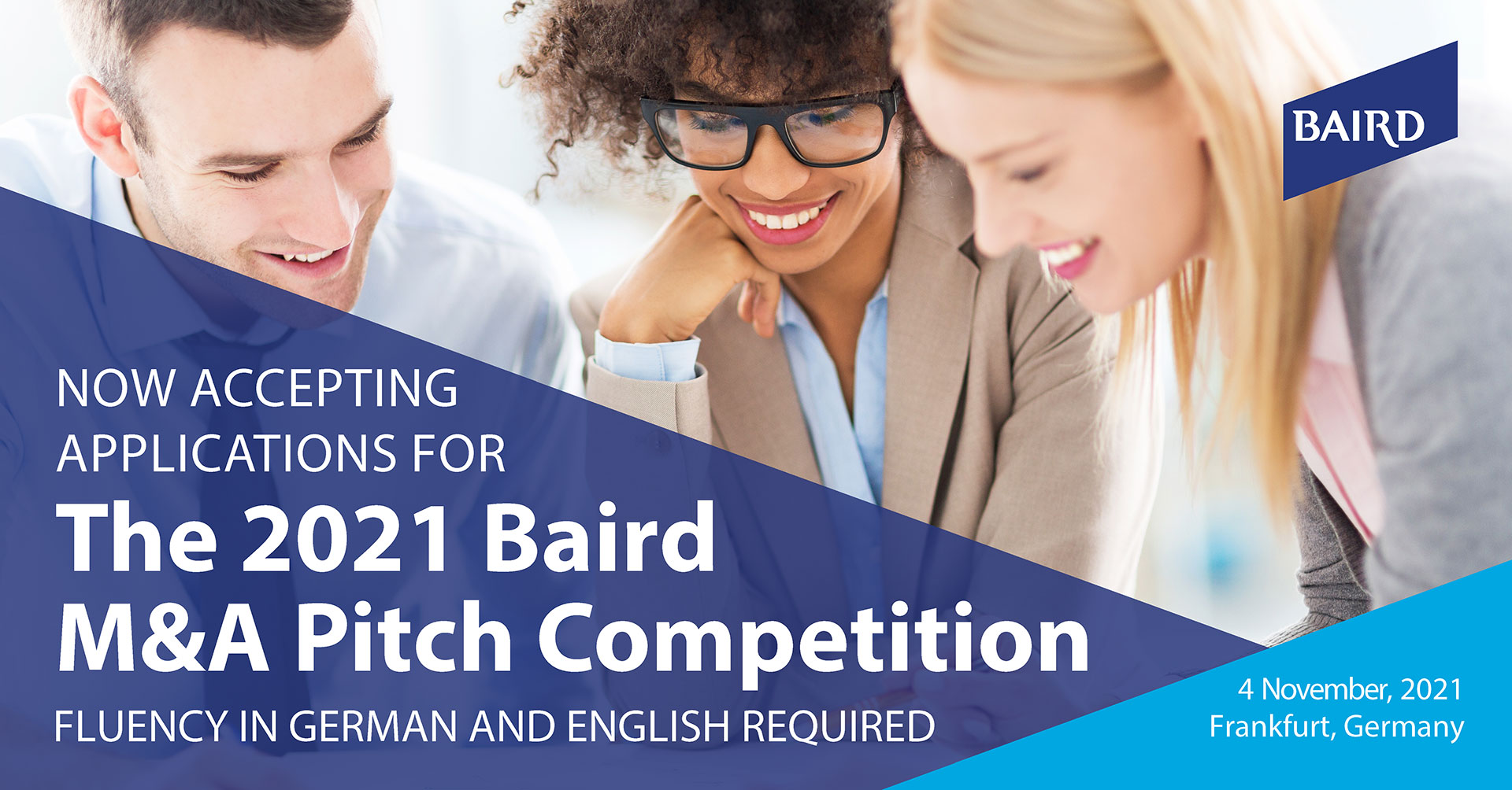 Baird's 2021 Virtual M&A Pitch Competition + Networking Event 4 November 2021
