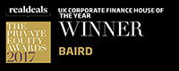 •	2017 UK Corporate Finance House of the Year