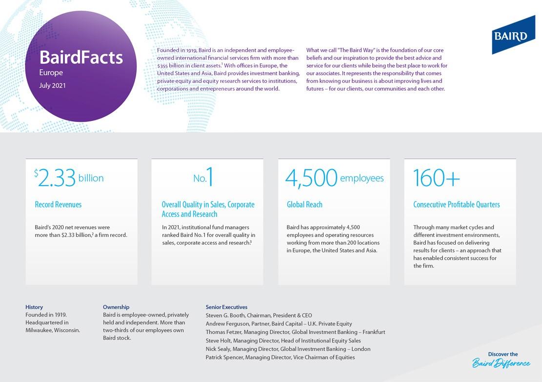 Baird Facts Europe