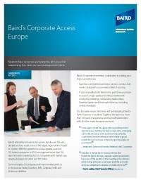 Corporate Access Flyer