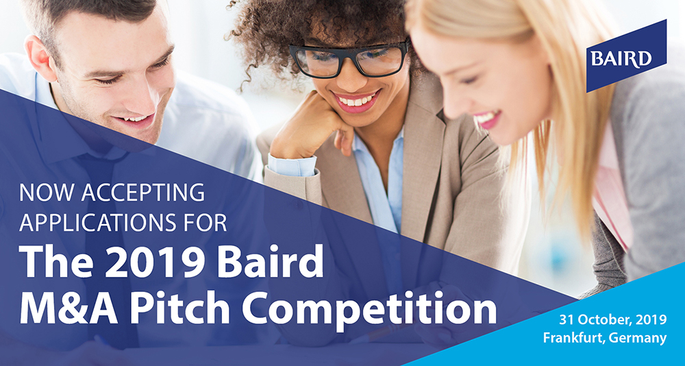 The 2019 Baird M&A Pitch Competition - October 31, 2019