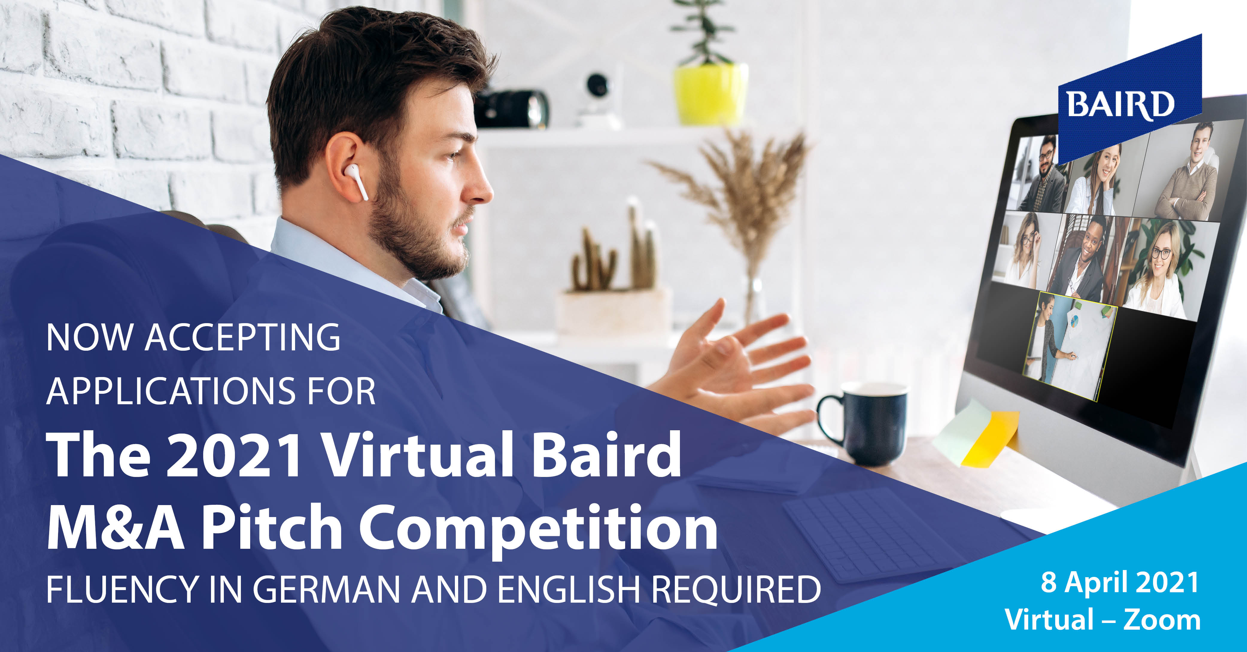 Baird's 2021 Virtual M&A Pitch Competition + Networking Event 8 April 2021