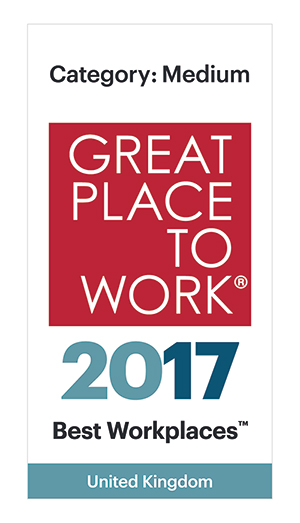 Great Place to Work® – 2016 Best Workplaces in the UK