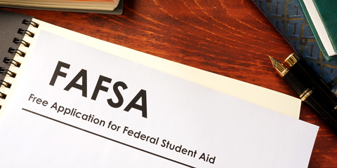 FAFSA Paperwork on Table