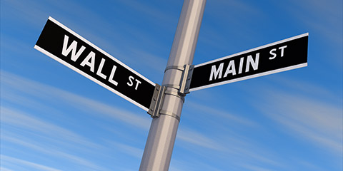 Street Signs - Main Street and Wall Street