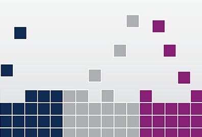 Illustration of Tetris-like cubes falling