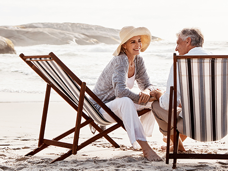 Retired Couple on the Beach