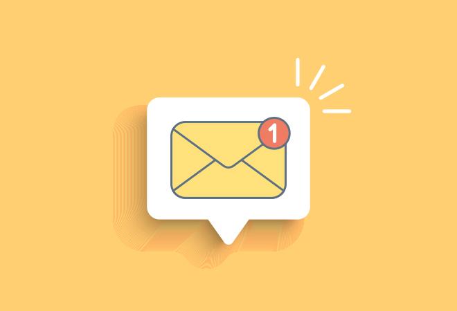 Yellow Envelope New Mail Alert
