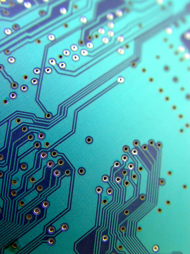 Close-up of circuits/microchip
