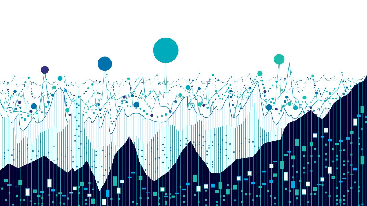 Blue multicolored graph design.
