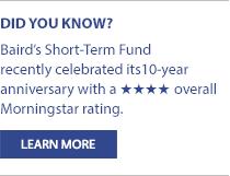 Baird Short Term Bond Fund 10 Years