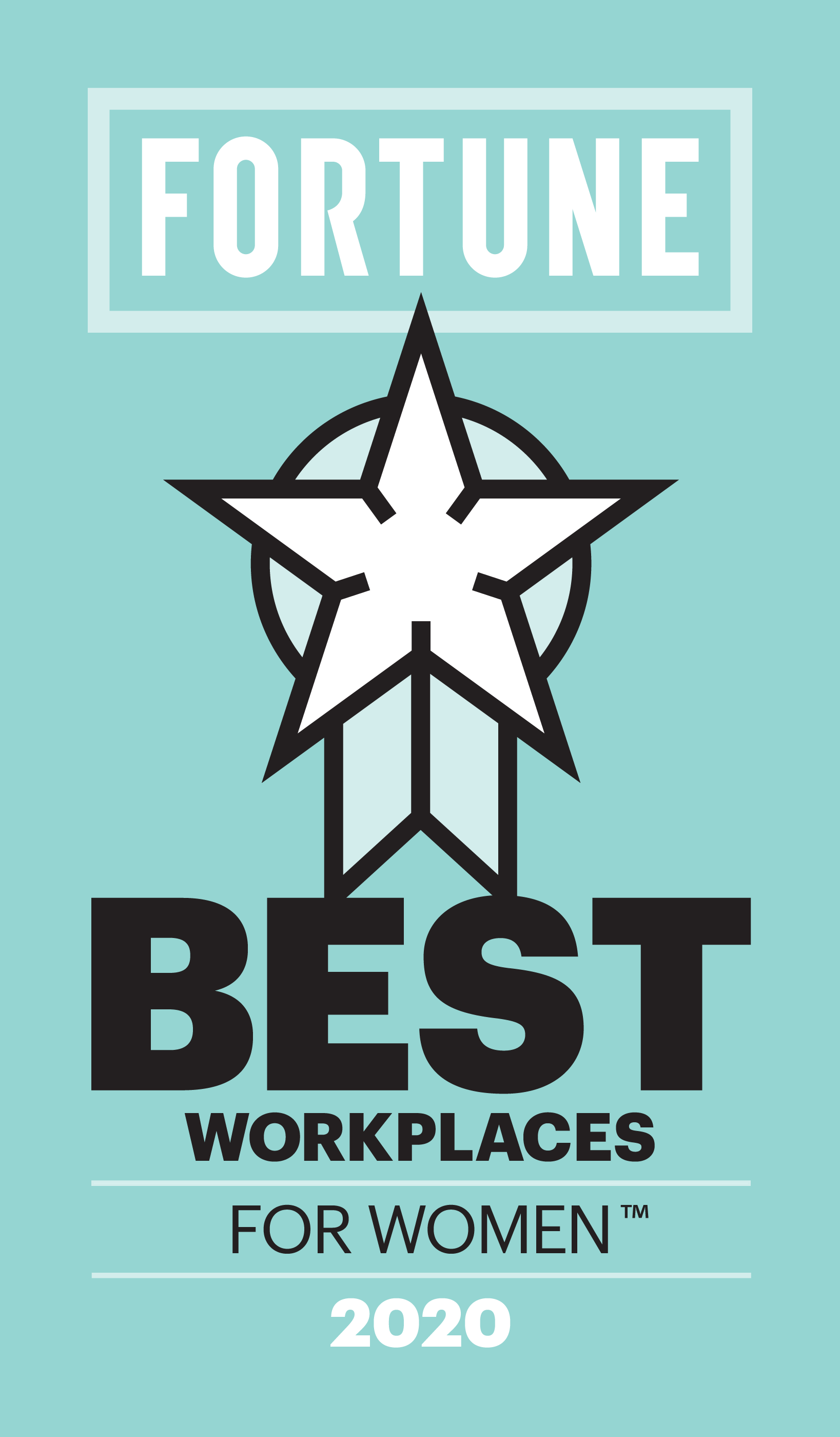 FORTUNE - Best Workplaces for Women 2020 Logo