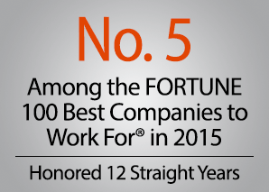 No. 5 among the FORTUNE 100 Best Companies to Work For