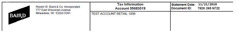 Tax Statement Sample