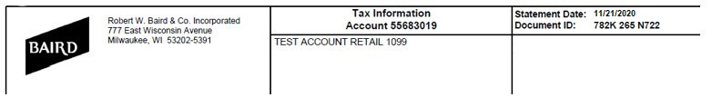 Tax Statement Sample