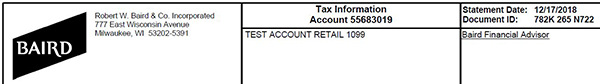 Tax Statement