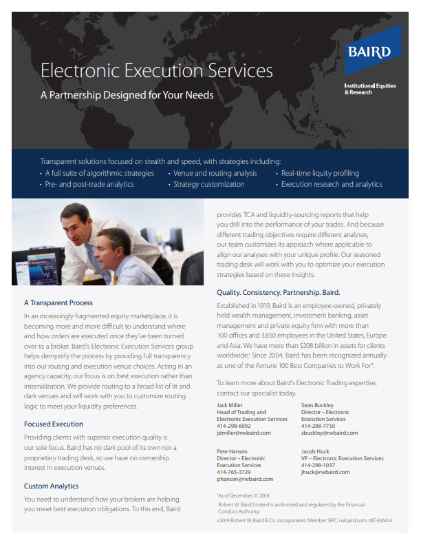 Electronic Execution Services Flyer Cover