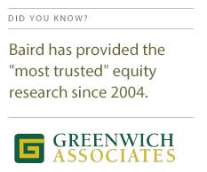 Baird Most Trusted Equity Research