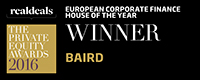 2016 European Corporate Finance House of the Year