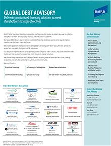 Global Debt Advisory Flyer