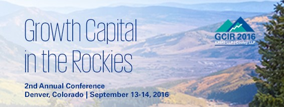 Proud sponsor of the 2016 Growth Capital In the Rockies Conference