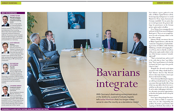 Baird Discusses Germany's Private Equity Environment in PEI Roundtable