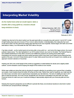 Interpreting Market Volatility