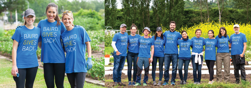 Baird Associates volunteering