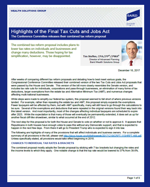 Final Tax Cut and Jobs Act