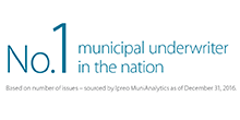 No. 1 Ranked Municipal Underwriter