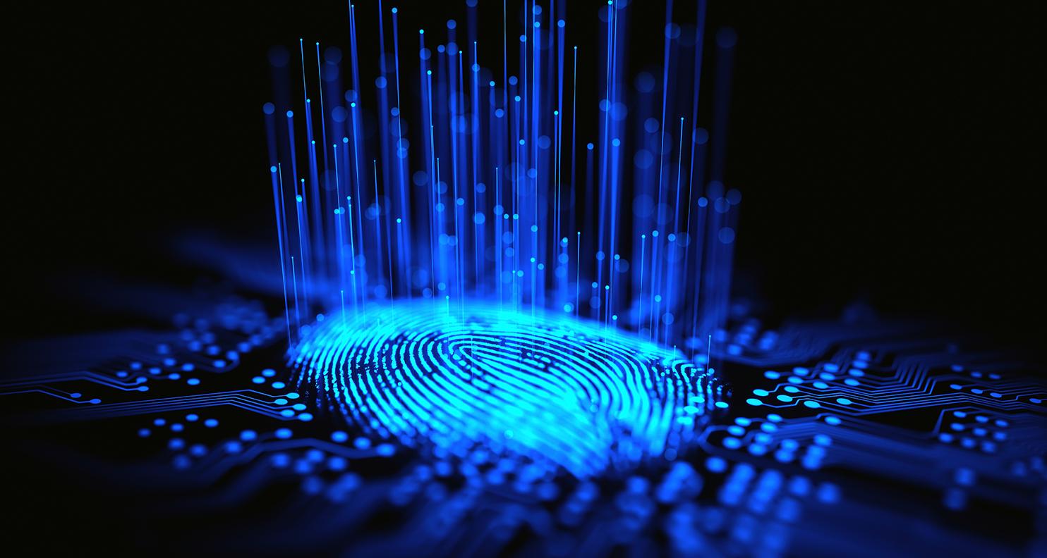 Abstract image of thumbprint