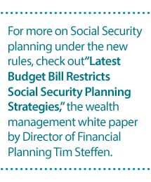 Latest Budget Restricts Social Security Planning Strategies