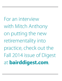 Interview with Mitch Anthony at bairddigest.com