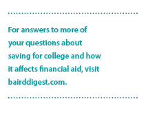 Saving for College | bairddigest.com