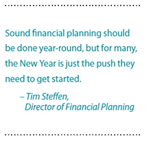 Sound financial planning year-round