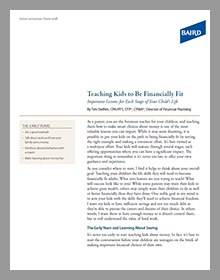Teaching Kids to be Financial Fit White Paper