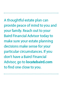A thoughtful estate plan can provide peace of mind to you and your family.