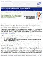 Planning Tax Payments to Avoid Penalties
