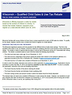 Wisconsin - Qualified Child Sales & Use Tax Rebate