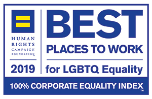 Human Rights Campaign Foundation | 2019 Best Places to Work for LGBTQ Equality | 100% Corporate Equality Index