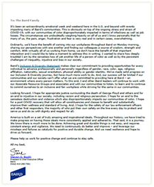 Recent Letter to Emloyees